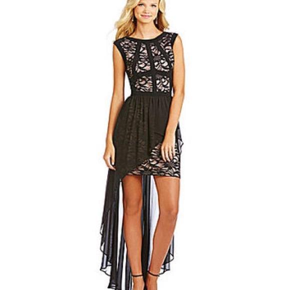 Morgan & Co. Dresses | Morgan Co Hi Lo Prom Dress In Deep Purple ...